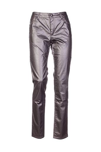 bisou d'eve pantalons femme de couleur gris