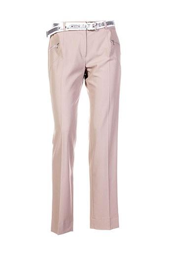 com elle pantalons femme de couleur beige