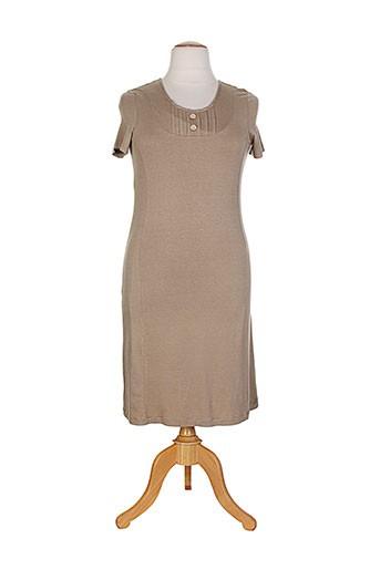 Robe longue marron ESCOLA pour femme