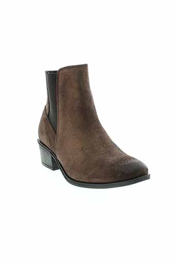 pieces boots femme de couleur marron