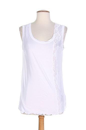cotton et club tops et caracos femme de couleur blanc
