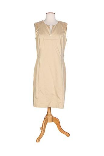 escada robes et mi et longues femme de couleur beige