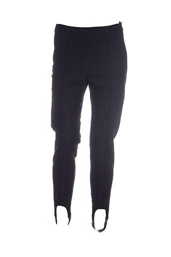 double jeu pantalons femme de couleur noir