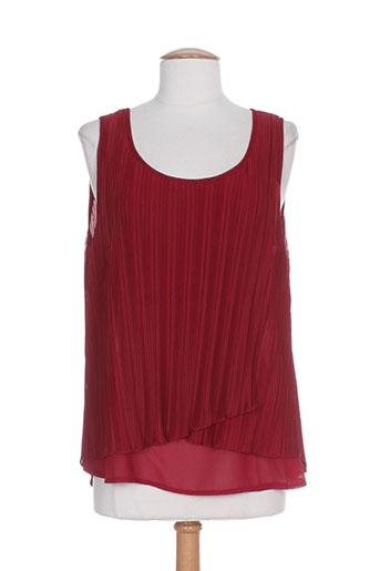 me-paris chemises femme de couleur rouge