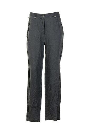 felino pantalons femme de couleur gris