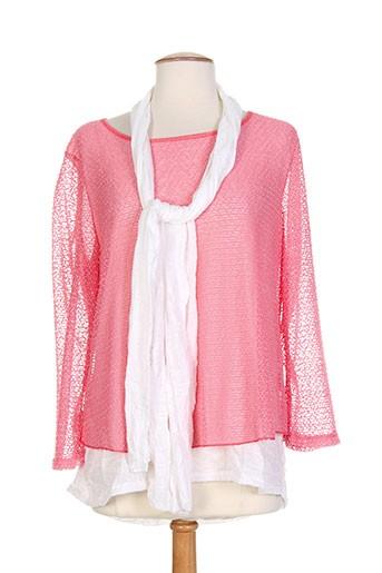 carmen chemises femme de couleur rose