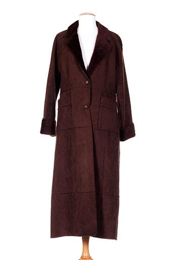 sinequanone manteaux femme de couleur marron