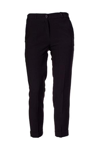amz pantalons femme de couleur noir