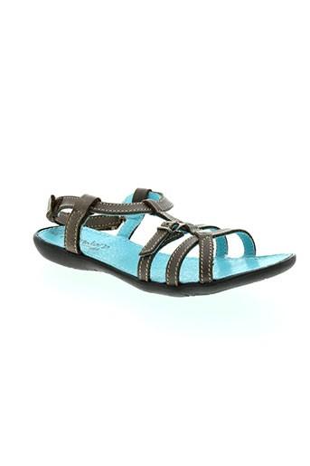 ramdam sandales et nu et pieds fille de couleur gris