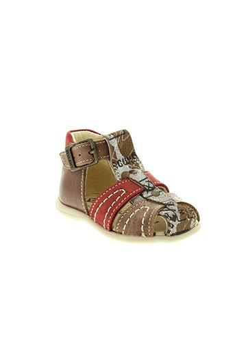 bellamy sandales et nu et pieds garcon de couleur marron