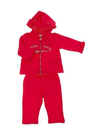 3 et pommes pantalon et veste fille de couleur rose (photo)