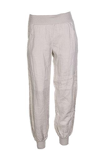 puro lino pantalons femme de couleur gris