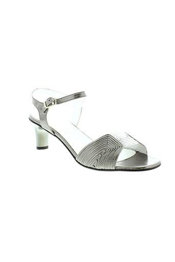 pierre et cardin sandales et nu et pieds femme de couleur gris