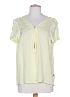 T-shirt manches courtes vert I.CODE (By IKKS) pour femme