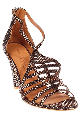 new lovers chaussures femme de couleur noir