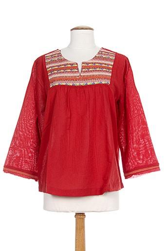 redsoul chemises femme de couleur rouge