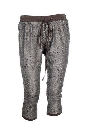charlie joe pantacourts femme de couleur gris