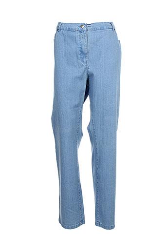 karting jeans femme de couleur bleu