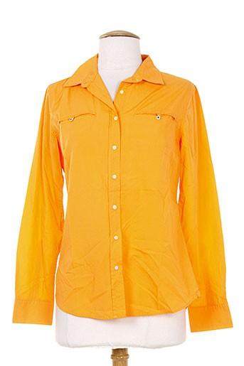 quiet chemises femme de couleur orange