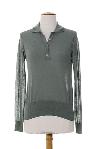 alpha massimo rebecchi t-shirts femme de couleur gris