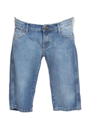 acquaverde shorts / bermudas femme de couleur bleu