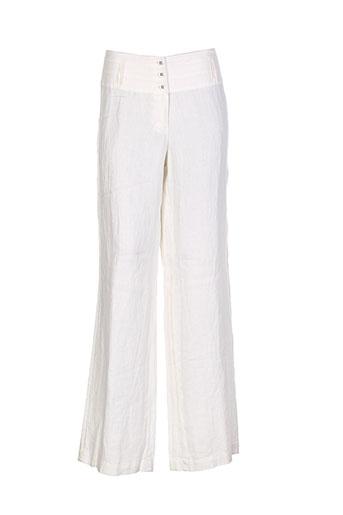 sandwich pantalons femme de couleur blanc