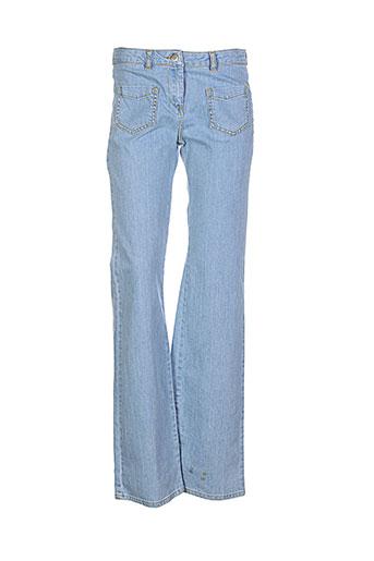 pablo gerard darel jeans femme de couleur bleu