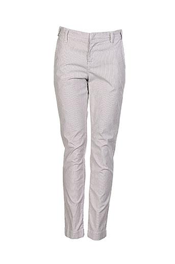 quiet pantalons femme de couleur gris