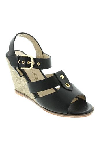 petite mendigote chaussures femme de couleur noir