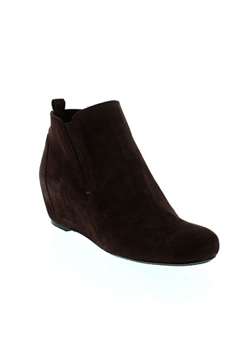 reve et d et un et jour boots femme de couleur marron