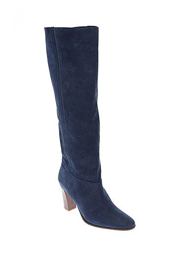 parallele bottes femme de couleur bleu