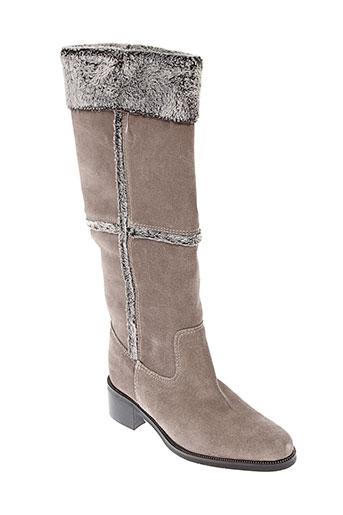 parallele bottes femme de couleur gris