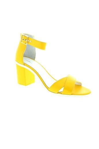 mellow et yellow sandales et nu et pieds femme de couleur jaune