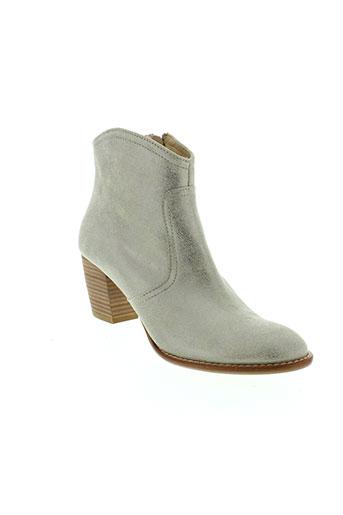 auguste chaussures femme de couleur gris