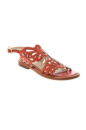 mellow et yellow sandales et nu et pieds femme de couleur orange