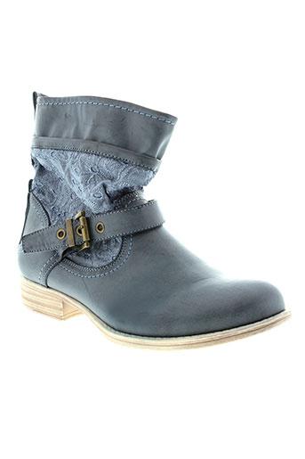 moow boots femme de couleur bleu