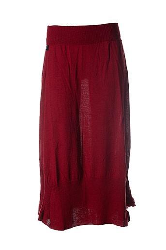 caty lesca jupes femme de couleur rouge