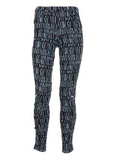 Pantalon casual vert CATY LESCA pour femme