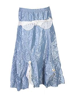 Jupe mi-longue bleu CATY LESCA pour femme