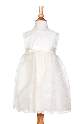 bimbalo robes fille de couleur blanc