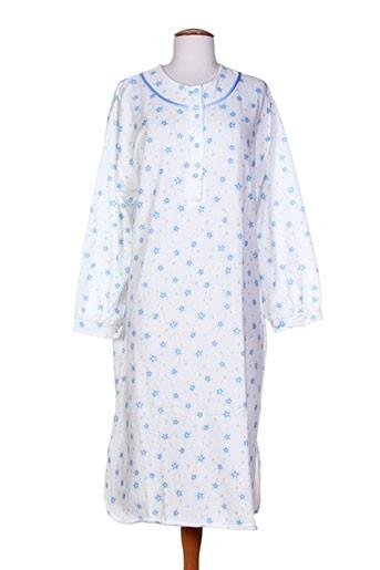 20 et 20 chemises et de et nuit femme de couleur bleu (photo)