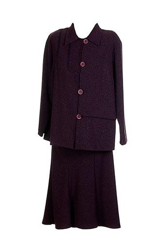 20 et 20 jupe et veste femme de couleur violet (photo)