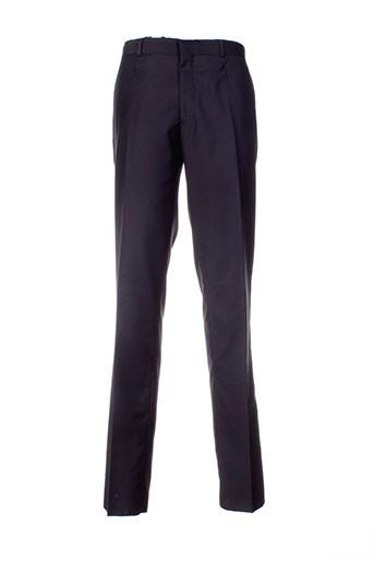 izac pantalons homme de couleur noir