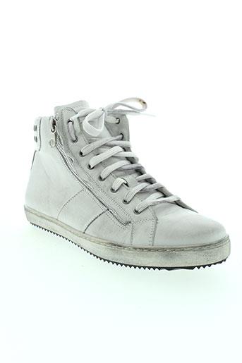 izac chaussures homme de couleur blanc