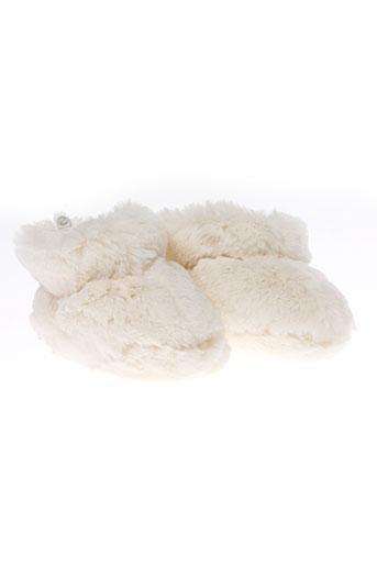 absorba chaussons fille de couleur blanc