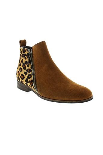 ambiance boots femme de couleur marron