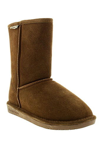 bearpaw bottines femme de couleur marron