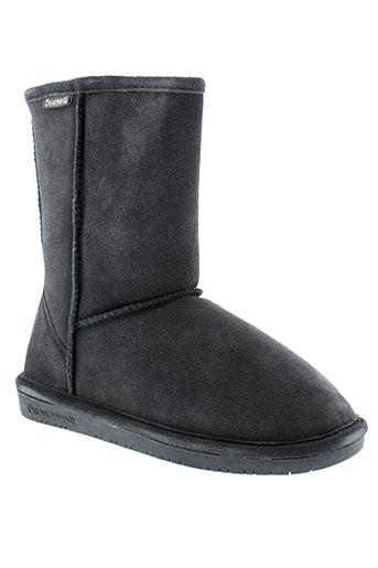 bearpaw bottines femme de couleur gris