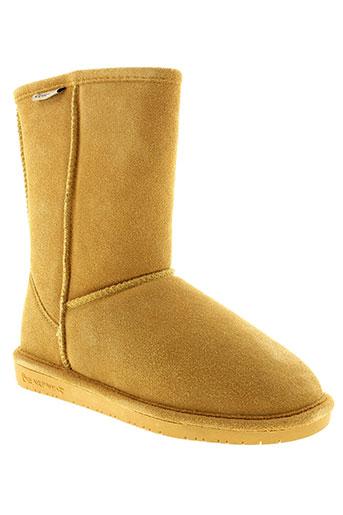 bearpaw bottines femme de couleur jaune