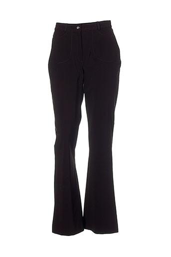 nathalie chaize pantalons femme de couleur marron